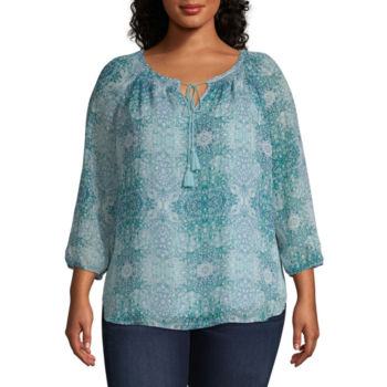 Plus Size Green Tops For Women Jcpenney