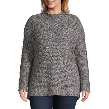 St Johns Bay Plus Size Sweaters Cardigans For Women Jcpenney