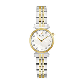 Bulova Classic Womens Diamond Accent Two Tone Stainless Steel Bracelet Watch - 98p202