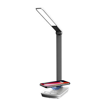 Tzumi Wireless Charging LED Desk Lamp and Charging Dock
