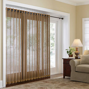 Vertical Blinds Bamboo Vinyl Amp Cotton Blinds Jcpenney