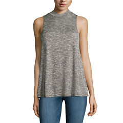 Fire Sleeveless Marled Hatchi Mockneck Top - Juniors