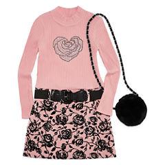 Knit Works Short Sleeve Drop Waist Dress - Preschool Girls