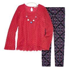 Self Esteem 3-pc. Legging Set-Big Kid Girls