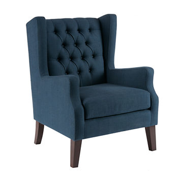 Amazing Madison Park Roan Button Tufted Wing Chair Gmtry Best Dining Table And Chair Ideas Images Gmtryco