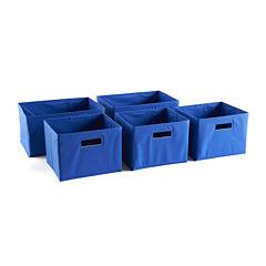Guidecraft 5 Storage Bins - Blue