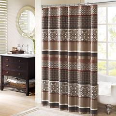 Madison Park Dartmouth Jacquard Shower Curtain