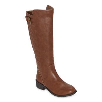 St. John's Bay Womens Duluth Block Heel Riding Boots