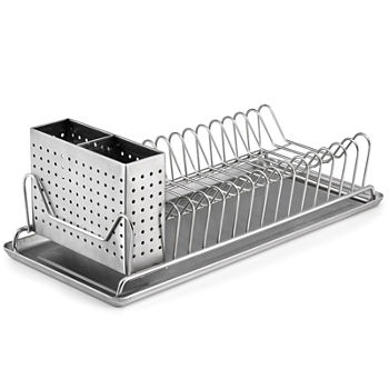 Oxo Good Grips Folding Stainless Steel Dish Rack Simple Dish Racks View All Kitchen For The Home JCPenney