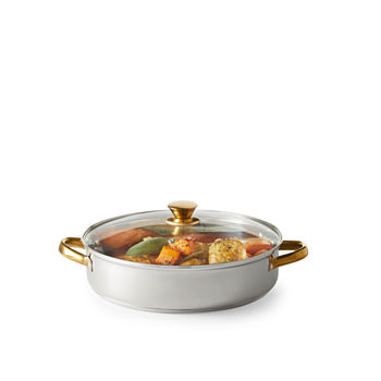 Cooks 5 Qt Stainless Steel Everything Pan With Gold Finish Handles