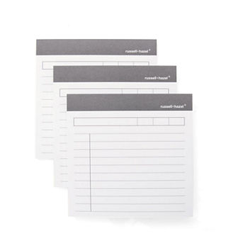 Russell + Hazel Charcoal Memo Adhesive Notepad
