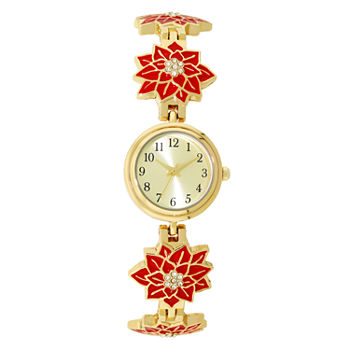 Holiday Whimsy Womens Gold Tone Bracelet Watch - 18121