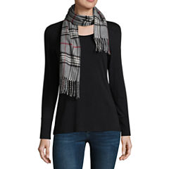 V. Fraas Plaid Oblong Cold Weather Scarf