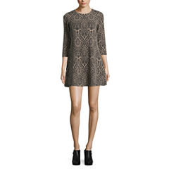 London Style 3/4 Sleeve Sweater Dress-Petites
