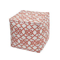 Madison Park Crystal 3M Scotchgard Outdoor Square Pouf