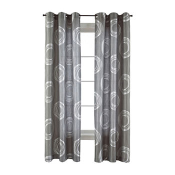 JCPenney Home Focus Light-Filtering Grommet-Top Single Curtain Panel