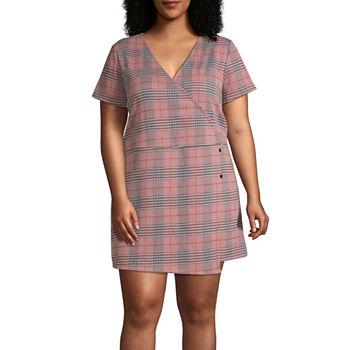 Arizona-Juniors Plus Short Sleeve Dress Set