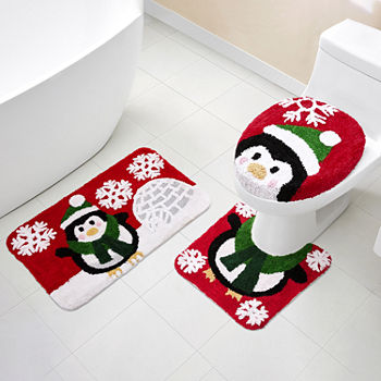 Peachy Just My Size Holiday Penguin 3 Pc Bath Rug Set Inzonedesignstudio Interior Chair Design Inzonedesignstudiocom