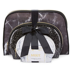 Mixit 3-pc Black and White Makeup Bag