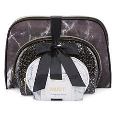 Mixit 3-pc Black and White Makeup Bag