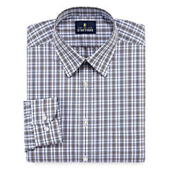 Stafford Travel Performance Super Shirt Long Sleeve Woven Plaid Dress Shirt