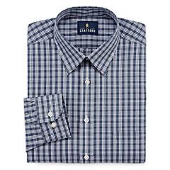 Stafford Travel Performance Super Long Sleeve Broadcloth Plaid Dress Shirt