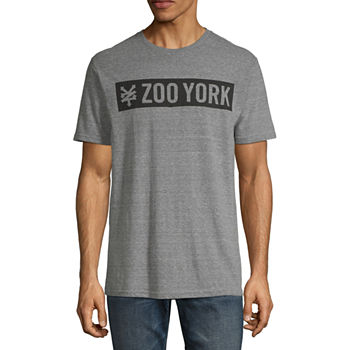 Zoo York Mens Crew Neck Short Sleeve Logo Graphic T Shirt