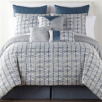 Queen Comforter Sets.Jcpenney Home Springfield 7 Pc Jacquard Midweight Comforter Set