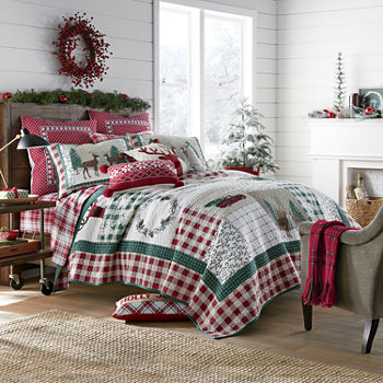 North Pole Trading Co Winter Patchwork Quilt Set
