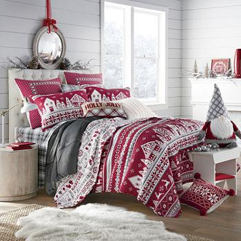 North Pole Trading Co Winter Wonderland Quilt Set
