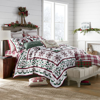 North Pole Trading Co. Holiday Star Quilt Set