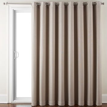 Room Darkening Patio Door Curtains Energy Efficient Blackout For