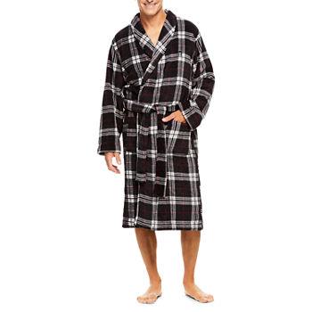 Haggar Printed Coral Fleece Robe - Men s d2a040e20