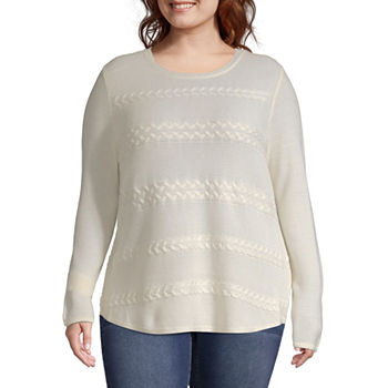 945133f024 Plus Size Pullover Sweaters Tops for Women - JCPenney