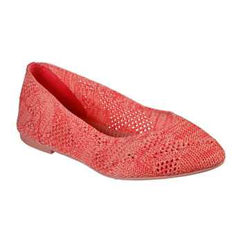 Skechers Womens Cleo Knitty City Ballet Flats Pointed Toe