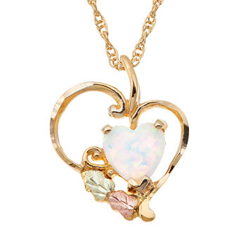 Opal heart fine necklaces pendants for jewelry watches jcpenney landstroms black hills gold lab created opal 10k gold pendant necklace aloadofball Choice Image