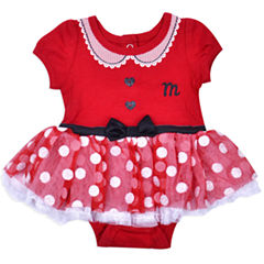2-pc. Minnie Mouse Bodysuit Set-Baby Girls