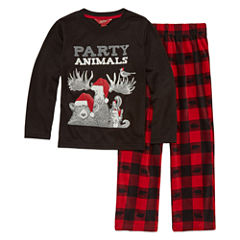 Arizona 2-pc. Party Animals Pajama Set Boys