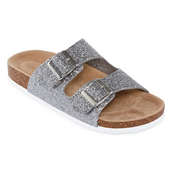 c2cb93b39 Casual Silver Women s Sandals   Flip Flops for Shoes - JCPenney
