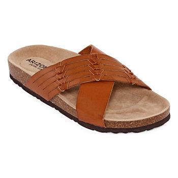 2199fe5bb759 Arizona Brown Women s Sandals   Flip Flops for Shoes - JCPenney