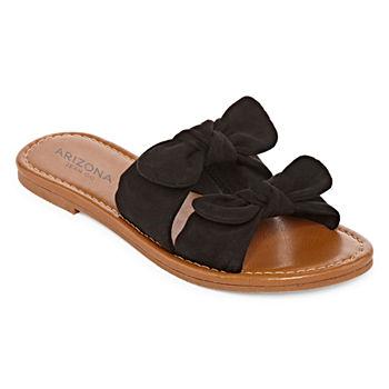 99f890e99abdf Slide Sandals Black Women s Sandals   Flip Flops for Shoes - JCPenney
