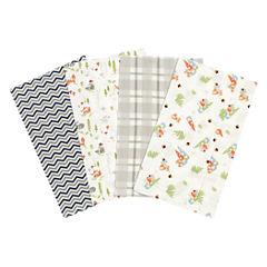 Trend Lab Woodsy Gnomes Flannel Burp Cloth