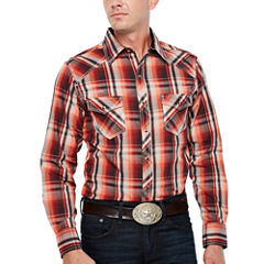 Ely Cattleman Long Sleeve Plaid Snap Shirt