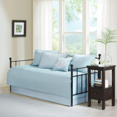 madison park mansfield quilted ogee 6pc daybed cover set