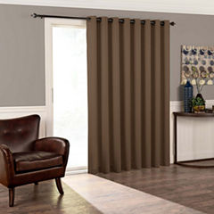 Eclipse Tricia Patio Door Room Darkening Grommet-Top Door Panel Curtain