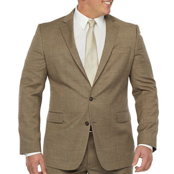 Stafford Super Mens Brown Tic Big & Tall Suit Separates