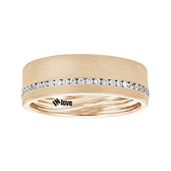 IN Love 1/3 CT. T.W. Diamond 14K Rose Gold Wedding Band