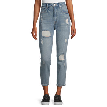 Almost Famous - Juniors Womens High Rise Straight Leg Jean
