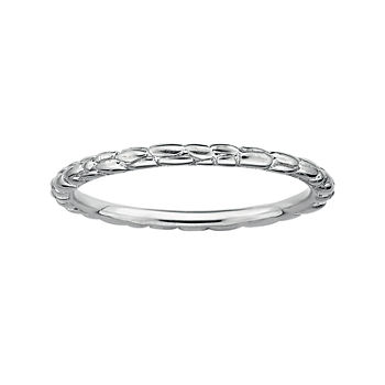 Personally Stackable Sterling Silver Stackable 1.5mm Twisted Ring