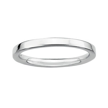 Personally Stackable Sterling Silver Stackable 3.5mm Square-Edge Ring